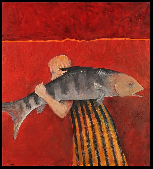 Mel McCuddin, The Half Frozen Fish 2017, oil