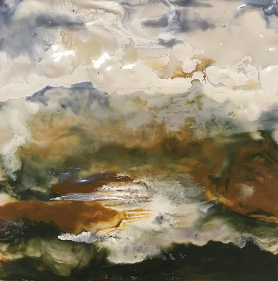 Mary Christen, Waiting for Rain 2019, encaustic