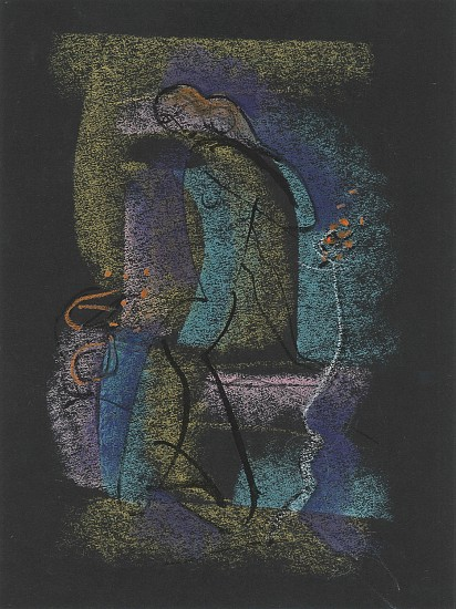 Ernest Lothar, Drawing 299 1954, ink and pastel on construction paper