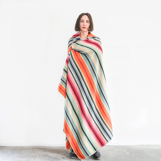 Garza Marfa, Mint Hand spun/woven - Wool/Cotton