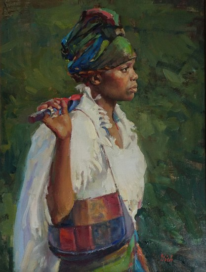Del Gish, African Beauty 2019, oil