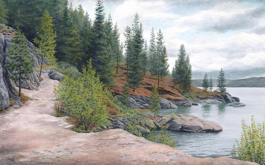 Jessica L. Bryant, Tubbs Hill Approaching Autumn 2019, water color