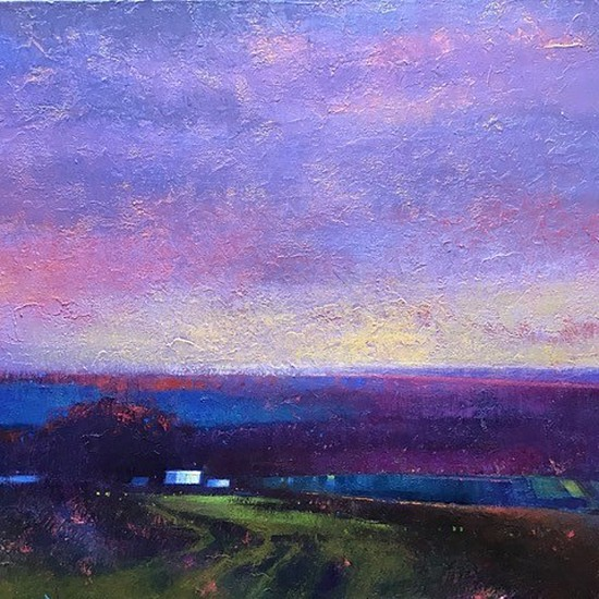 Kathy Gale, As Day Turns to Night 2020, oil on canvas