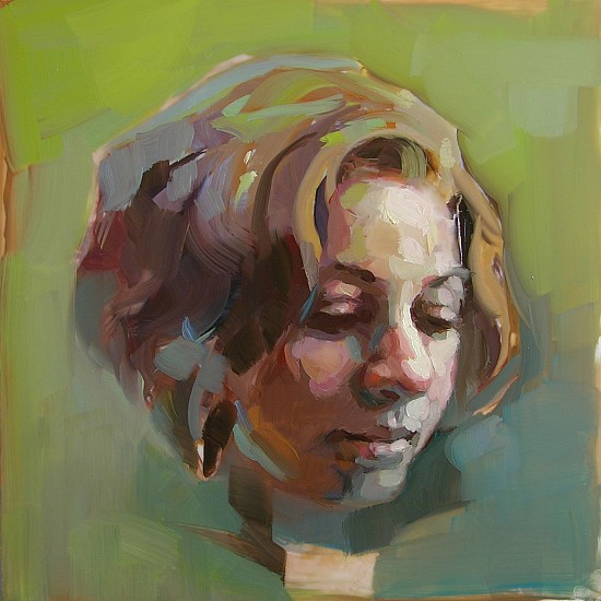 Victoria Brace, Head Study 42 2018, oil on mylar
