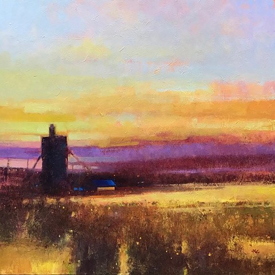 Kathy Gale, The Silo on Ralston Road 2020, oil on canvas