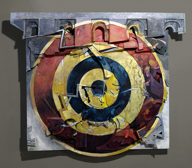 Robert Grimes, J.J.'s Target 2013, oil on wood construction