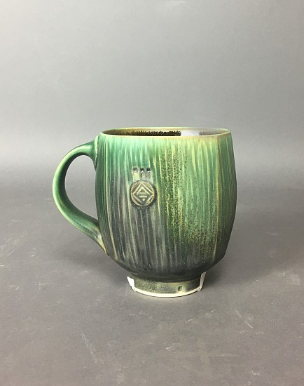 Nick DeVries, Dark Green Square Mug 2020, clay